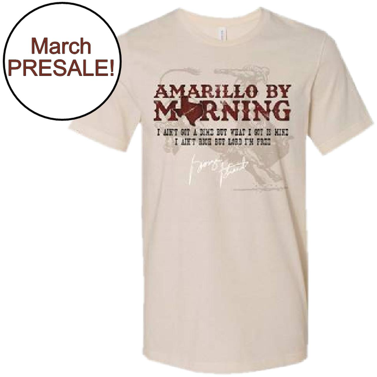 30d98f3e George Strait. Unisex Amarillo By Morning Tee- PRESALE