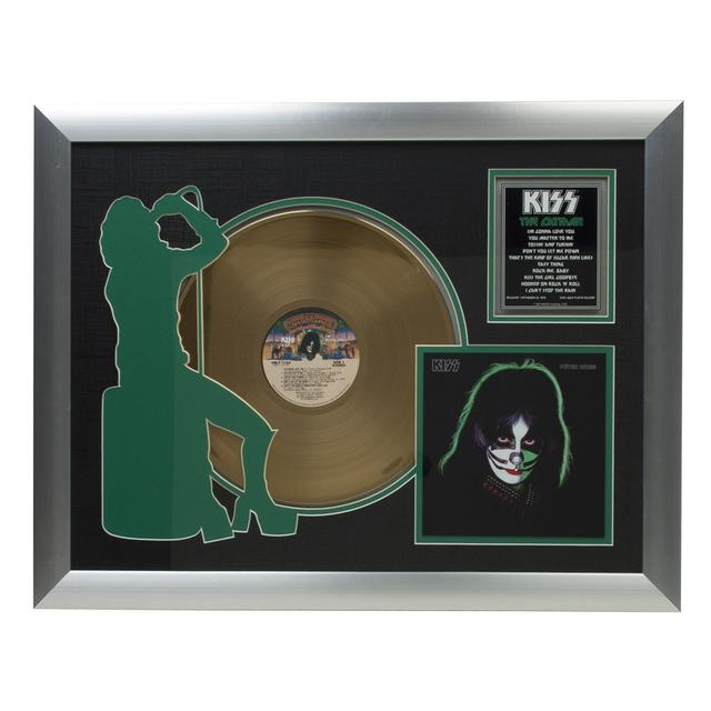 Kiss Solo Catman Collectible Framed Gold LP (Vinyl)