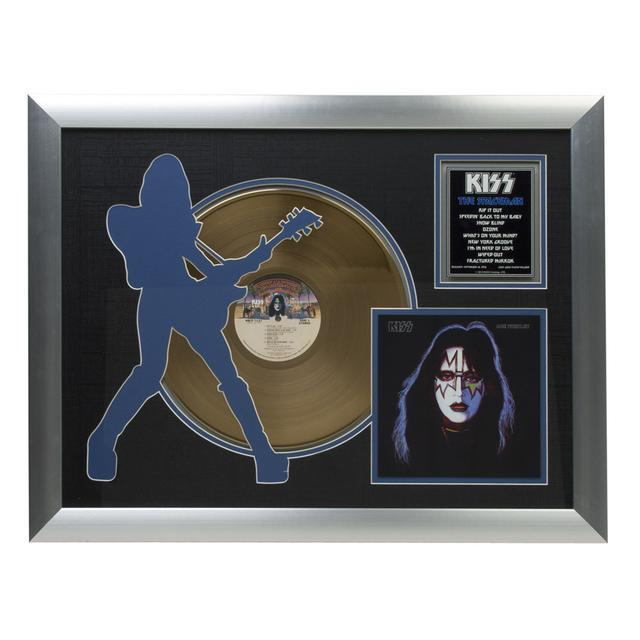 Kiss Solo Spaceman Collectible Framed Gold LP
