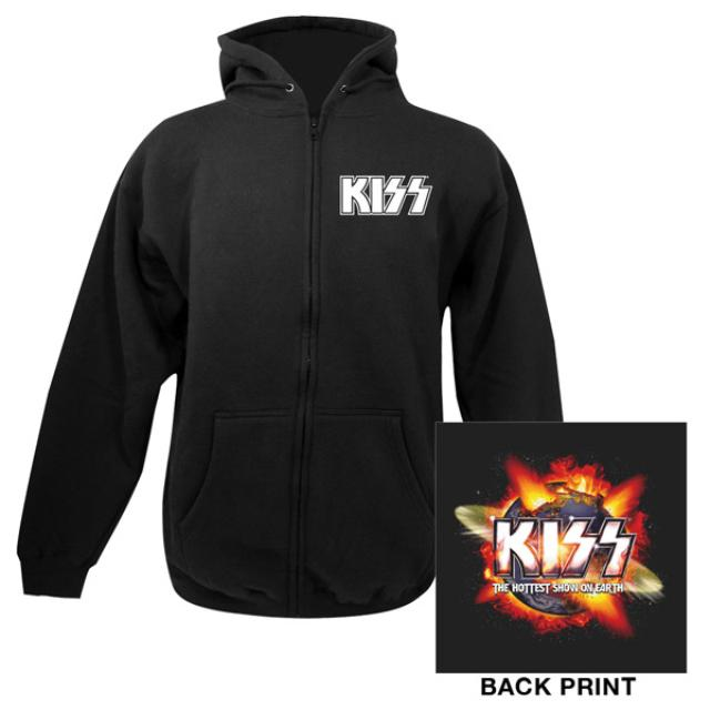 Kiss Exclusive - Hottest Show On Earth Event Zip Up Hoodie