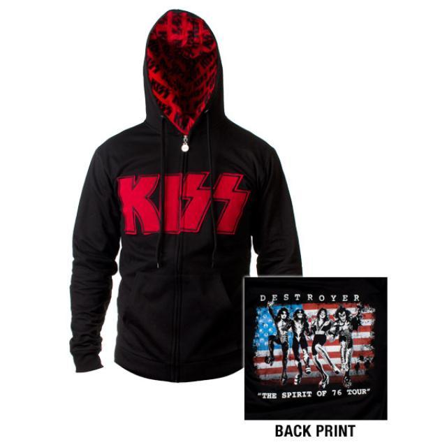 The Spirit Of '76 KISS Destroyer Zip Up Hooded Sweatshirt