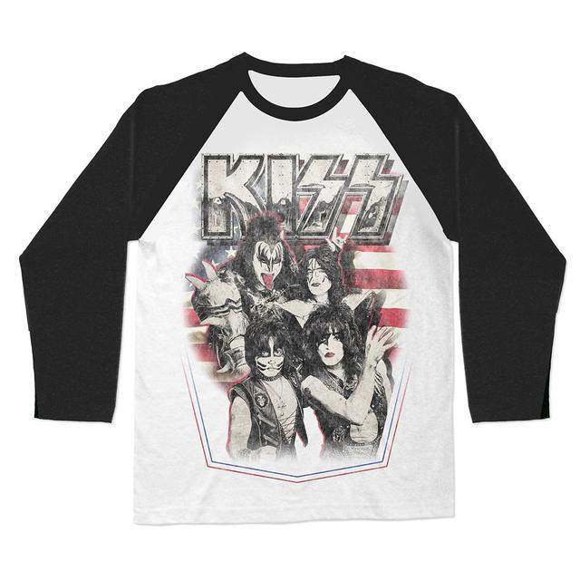 KISS American Icons Raglan