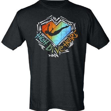 High Dive Heart Black Logo Tee