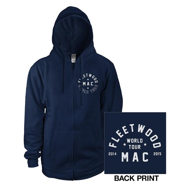 Fleetwood Mac 2015 Tour Logo Navy Hoody
