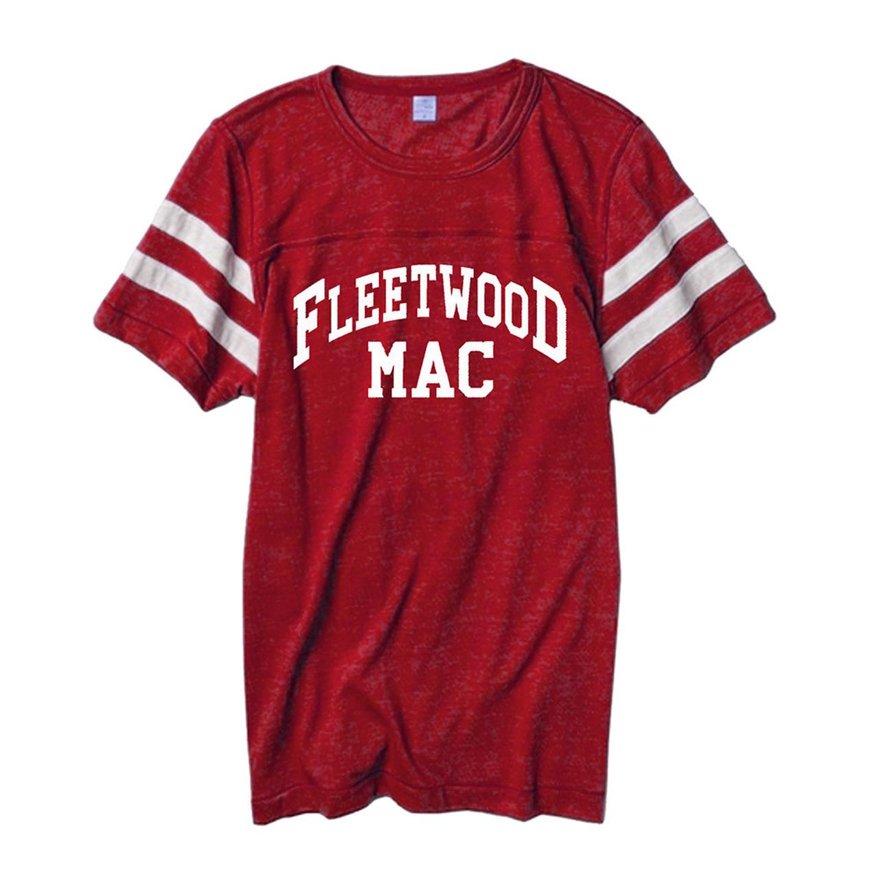Fleetwood Mac 2015 Red Football Jersey T Shirt