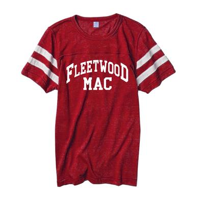Fleetwood Mac 2015 Red Football Jersey T-shirt