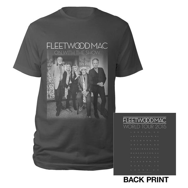 Fleetwood Mac 2015 On With The Show Tour/Itin Charcoal T-shirt