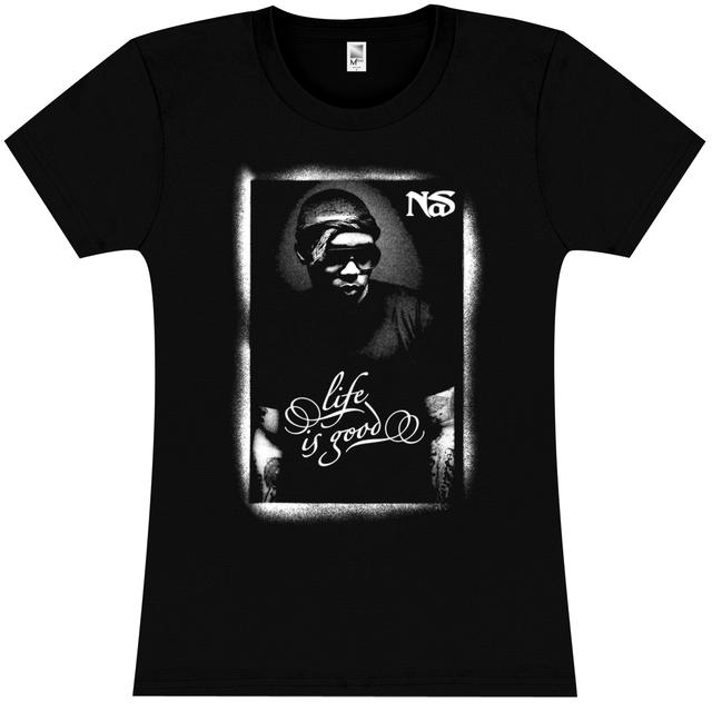 Nas Posterized Girlie T-Shirt