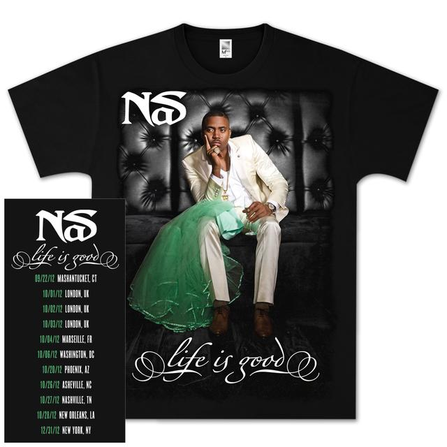 Nas Life is Good Album Cover T-Shirt