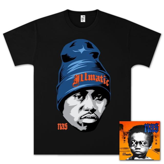 Nas Illmatic XX 20th Anniversary T-Shirt & CD Bundle