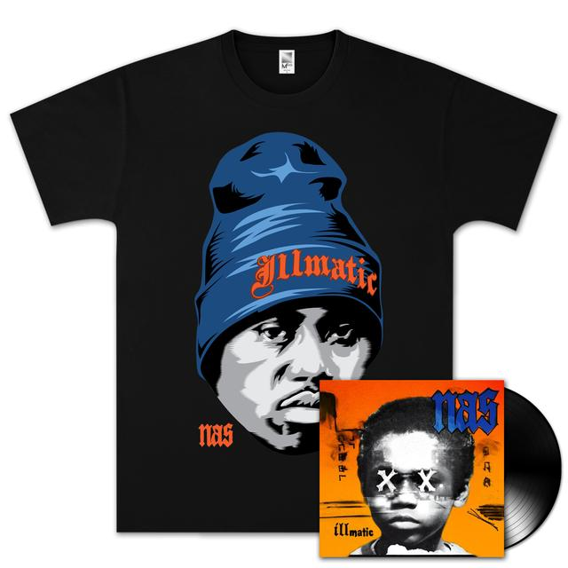 Nas Illmatic XX 20th Anniversary T-Shirt & Vinyl Bundle
