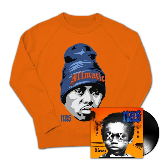 Nas Illmatic XX 20th Anniversary Crew & Vinyl Bundle
