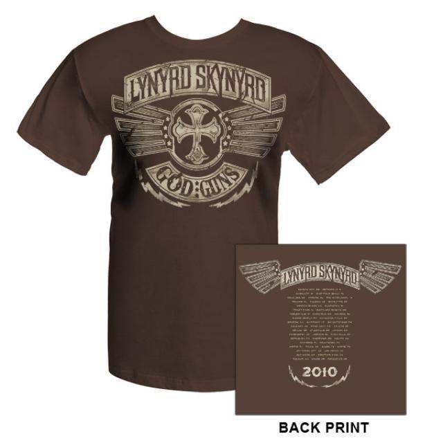 Lynyrd Skynyrd God and Guns 2010 Tour Tee