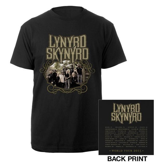 Lynyrd Skynyrd Band Photo 2015 World Tour Tee