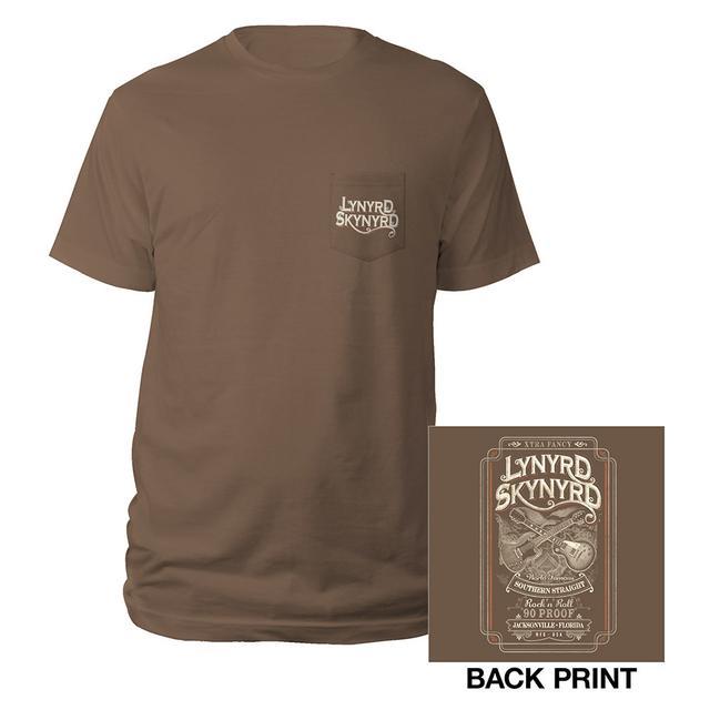 Lynyrd Skynyrd Whiskey Label Skynyrd Tee