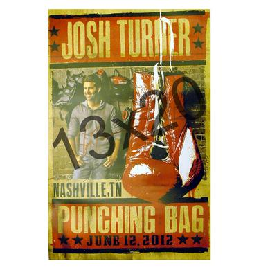 Josh Turner Autographed Poster- Punching Bag