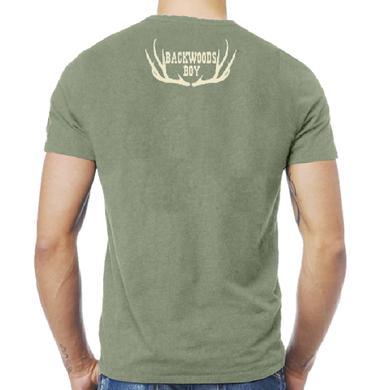 Josh Turner Heather Military Green Tee- Backwoods Boy
