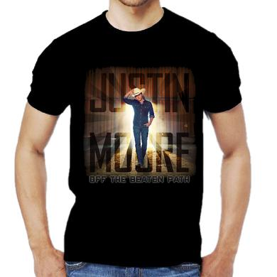 Justin Moore Off the Beaten Path Black Tee