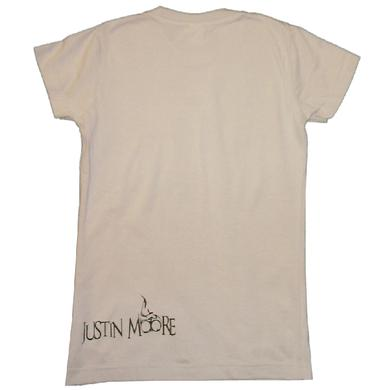 Justin Moore Ladies Light Grey Tee- I Love Beer