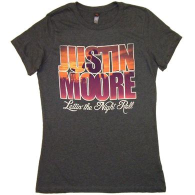 Justin Moore Ladies Heather Dark Navy Tee
