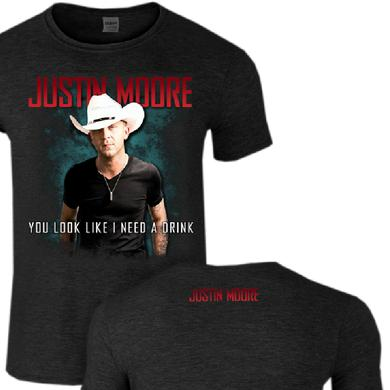 Justin Moore You Look Like I Need A Drink Heather Grey Tee