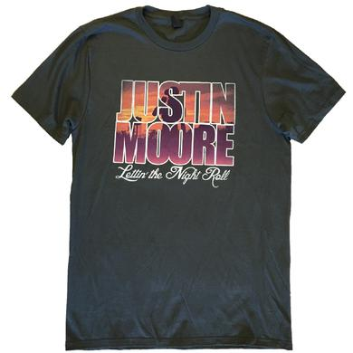Justin Moore Charcoal Lettin' the Night Roll Tee