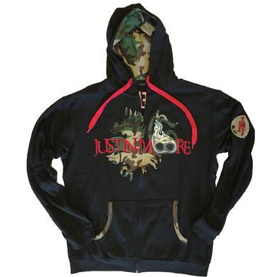 Justin Moore Black Zip Up Hoodie