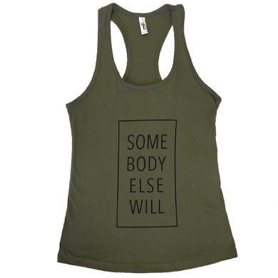 Justin Moore Ladies Military Green  Muscle Tank