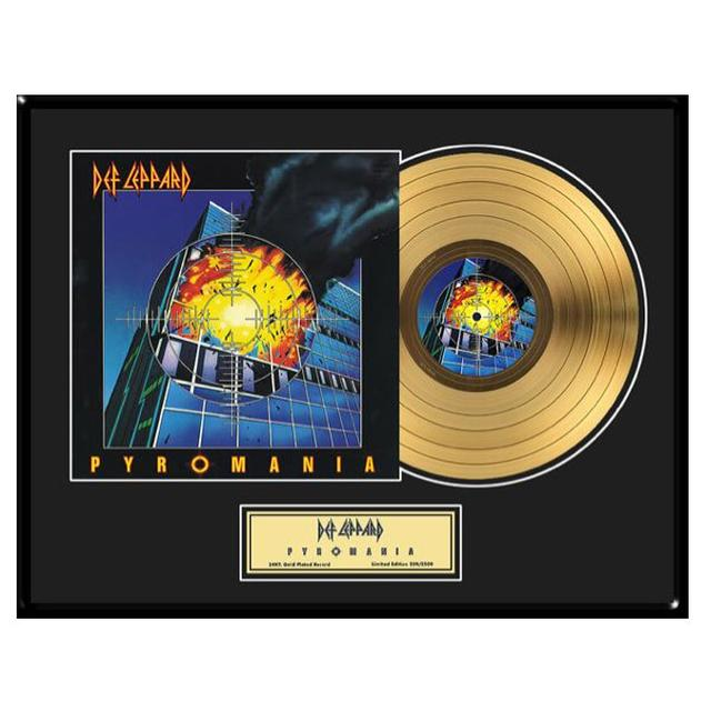 Def Leppard Pyromania Collectible Framed Gold LP