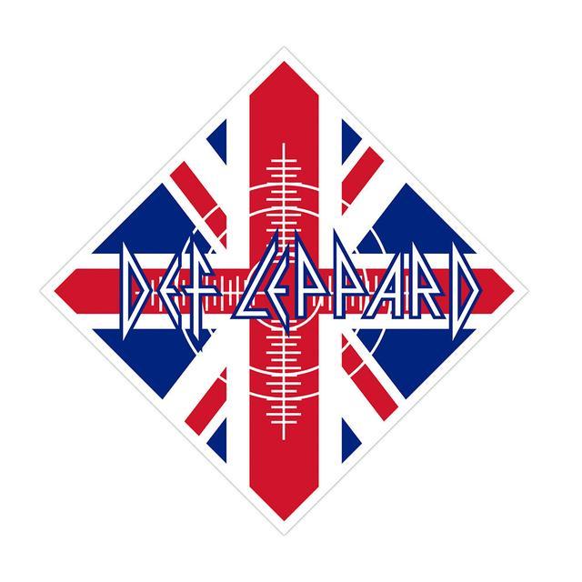 Def Leppard Union Jack Flag Bandana
