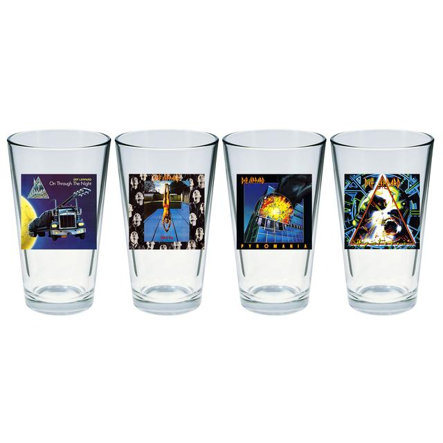 Def Leppard Album Art Four Piece Pint Glass Set