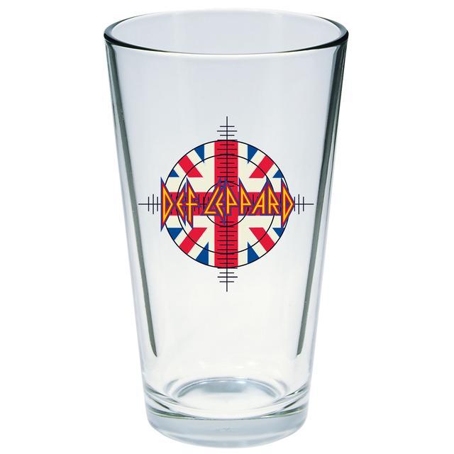 Def Leppard Target Flag Logo Pint Glass