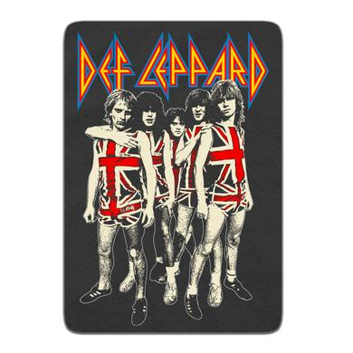Def Leppard Band Photo Fleece Blanket