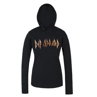 Def Leppard Classic Logo Ladies Jersey Pullover Hoodie