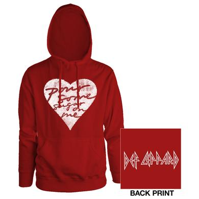 Def Leppard Pour Some Sugar On Me Red Ladies Pullover Hoodie