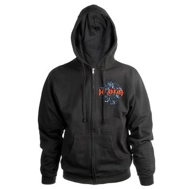 Def Leppard Self-Titled Album Embroidered Zip Hoodie