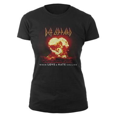 Def Leppard When Love & Hate Collide Ladies Tee