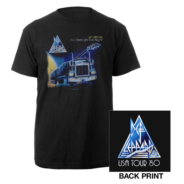 Def Leppard Vintage On Through The Nite Tee