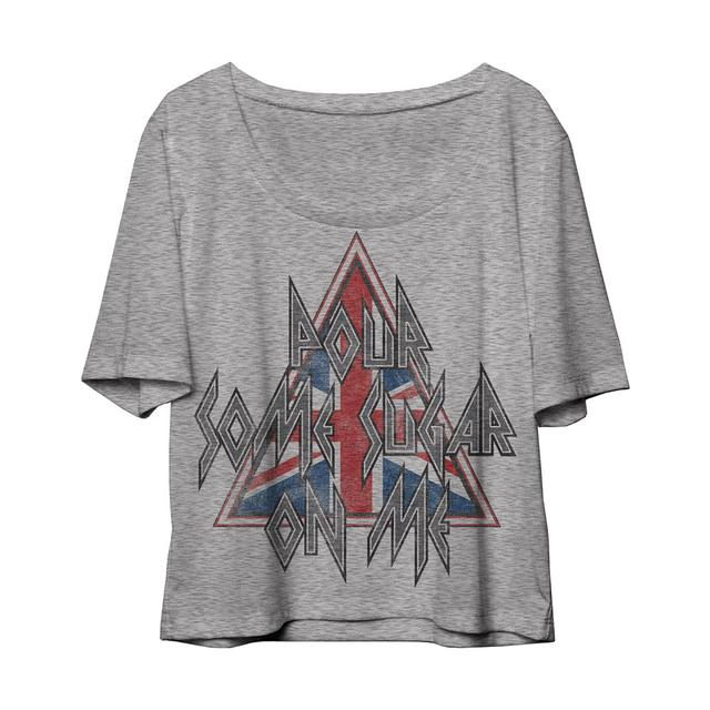 Def Leppard Pour Some Sugar On Me Ladies Slip On Tee