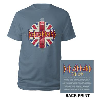 Def Leppard Target Union Jack Tour Tee