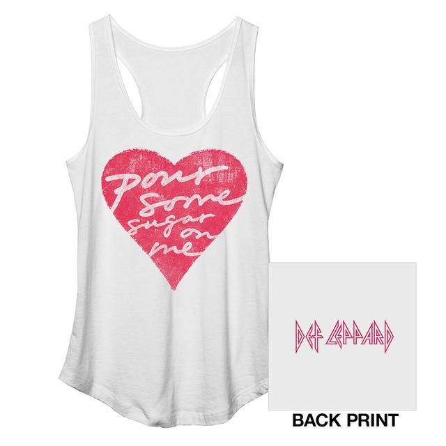 Def Leppard Pour Some Sugar On Me Racerback Ladies Tank