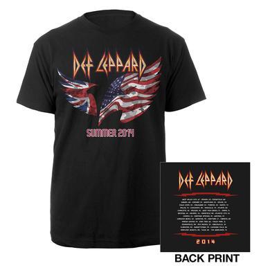 Def Leppard North American Tour Flag Tee