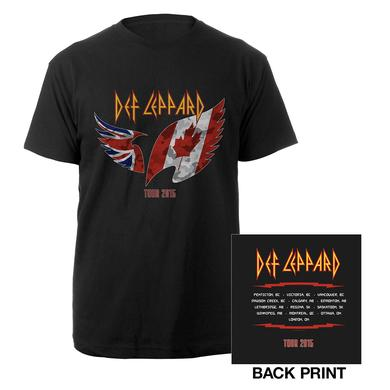 Def Leppard Canadian Tour Flag Tee