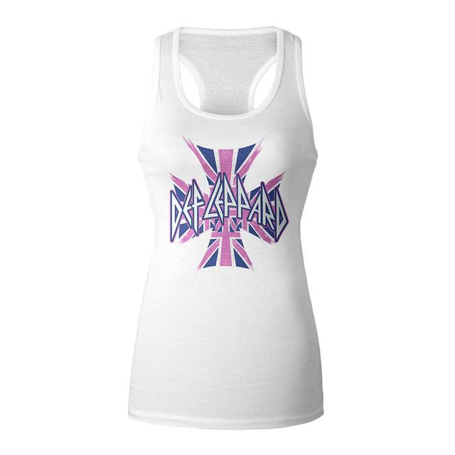 Def Leppard Union Jack Racerback Ladies Tank Top