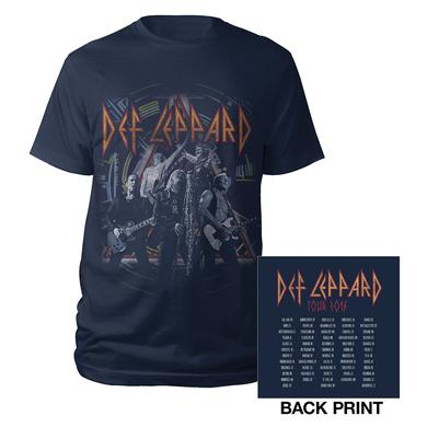 Def Leppard Action Shot Tour Tee