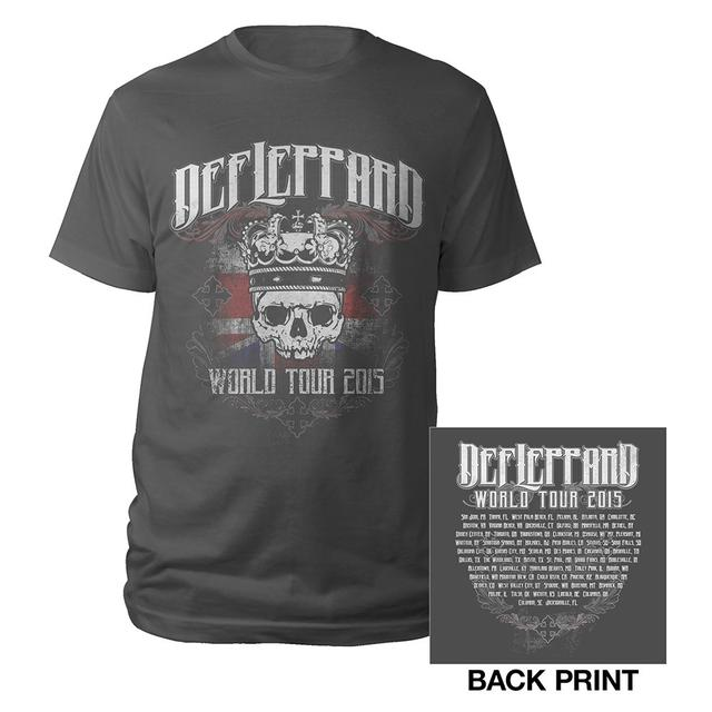 Def Leppard Crowned Skull Tour Tee
