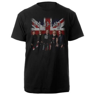 Def Leppard Band Photo Flag Tee