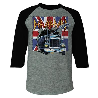 Def Leppard On Through The Night Raglan