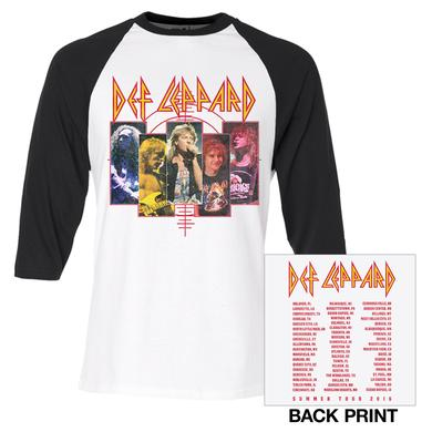 Def Leppard Vintage Band Shots Summer Tour 2016 Raglan