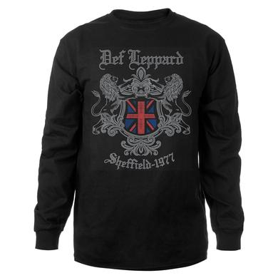 Def Leppard Sheffield 1977 Long Sleeve Tee